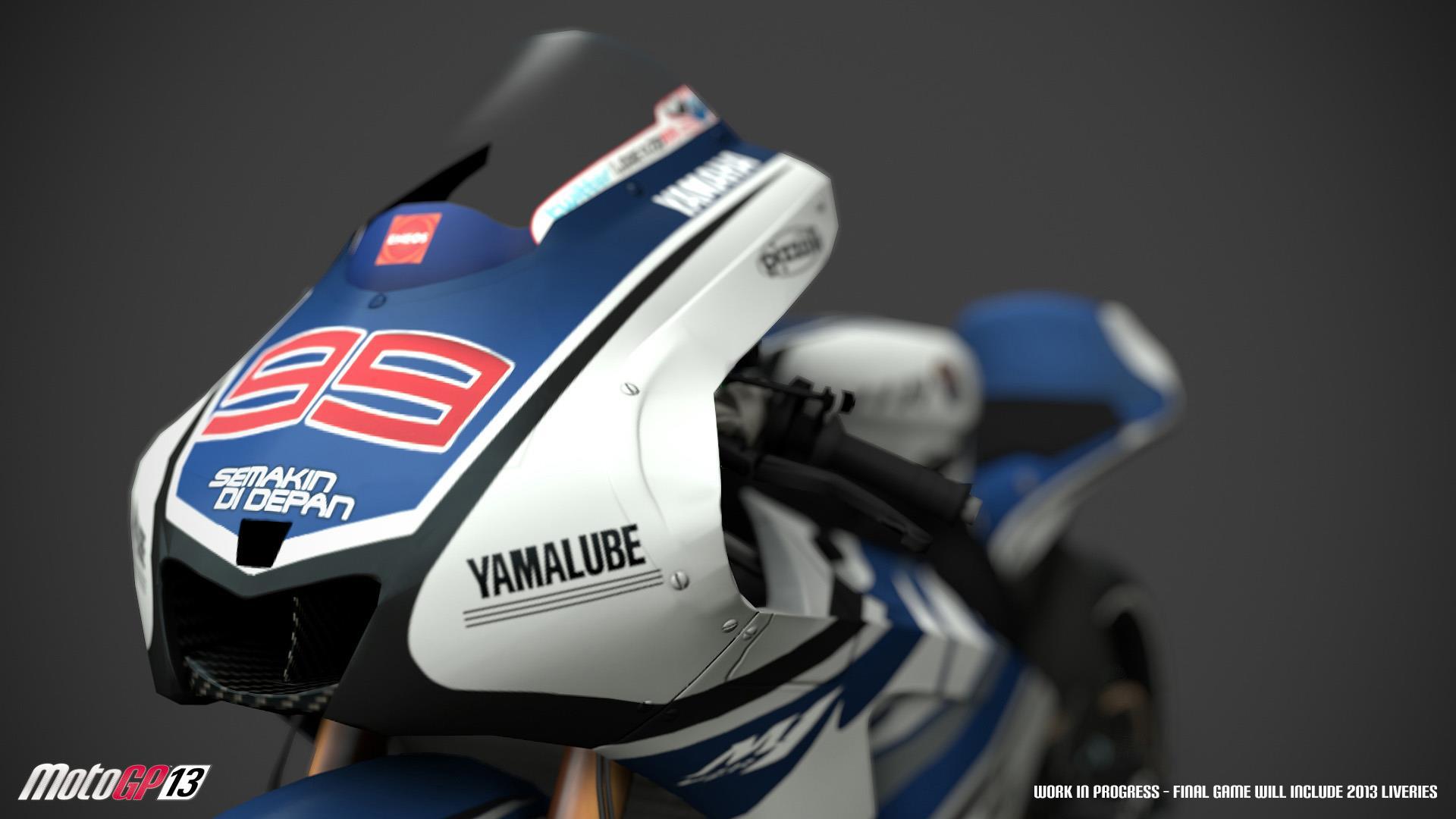 Milestone showcase detailed Yamaha bike models for MotoGP '13