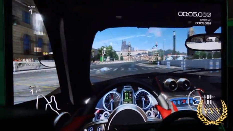 Forza Motorsport 5 cockpit and wheel E3 2013 gameplay videos