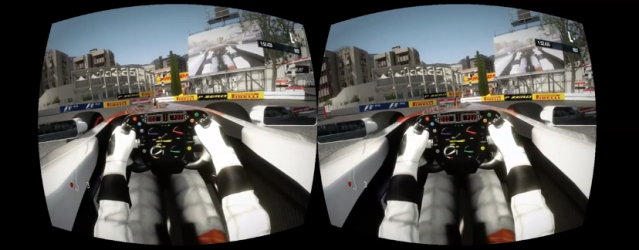 Oculus Rift support added to F1 2012