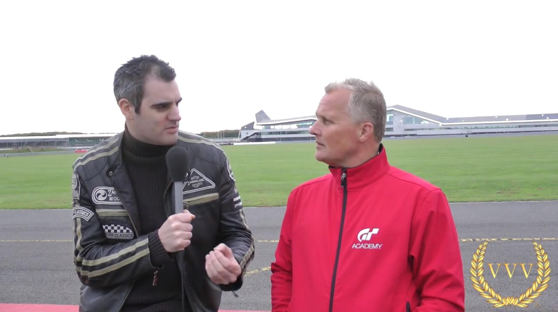 Alan interviews GT Academy judge Johnny Herbert