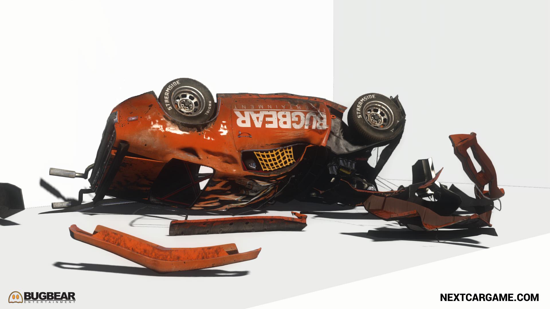Next Car Game Technology Demo gameplay: crashing cars in creative ways