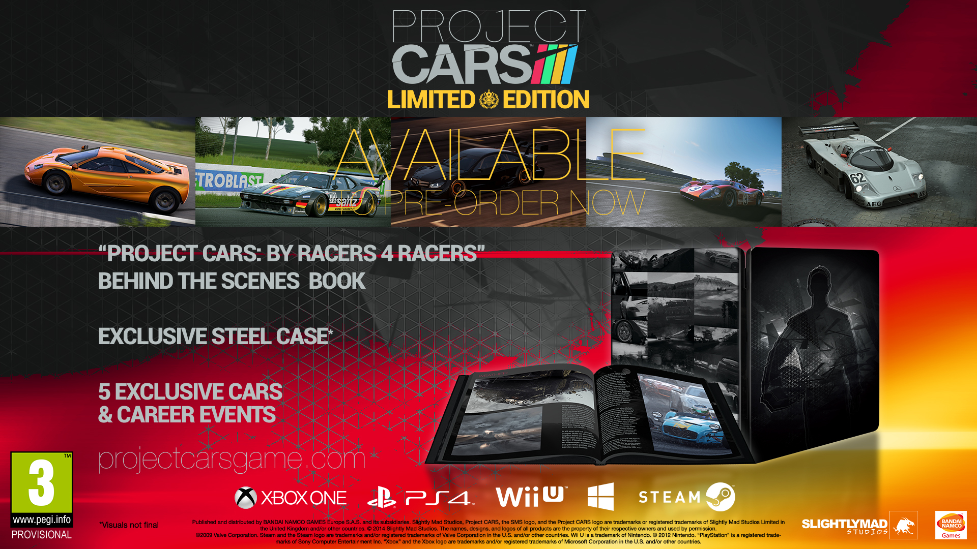 project cars limited edition and pre order pack detailed. Black Bedroom Furniture Sets. Home Design Ideas