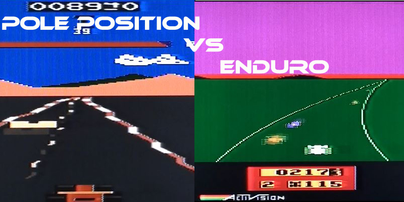 Head to Head: Pole Position Vs Enduro on the Atari 2600.