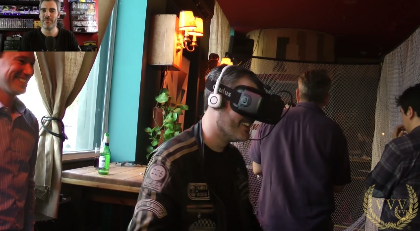 Team VVV visit this year's VR in a Bar event