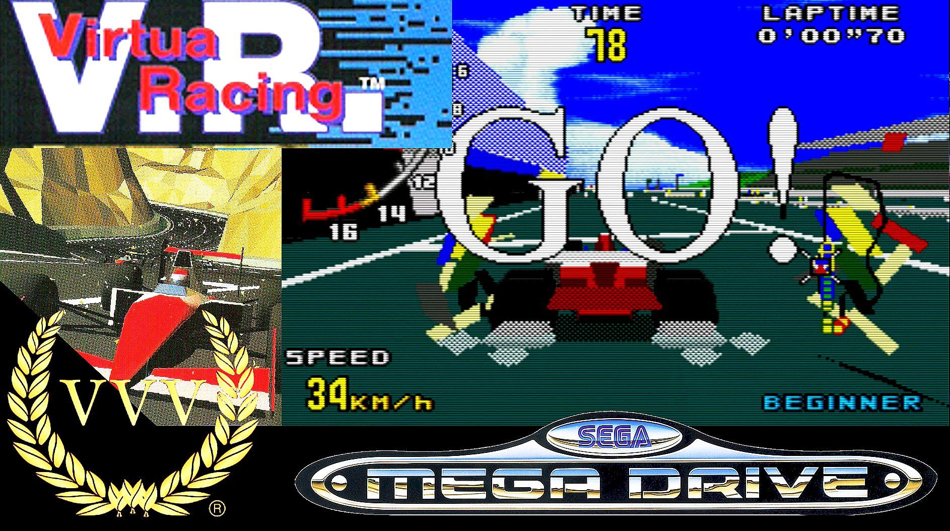 Playing 1994's Virtua Racing on the Mega Drive