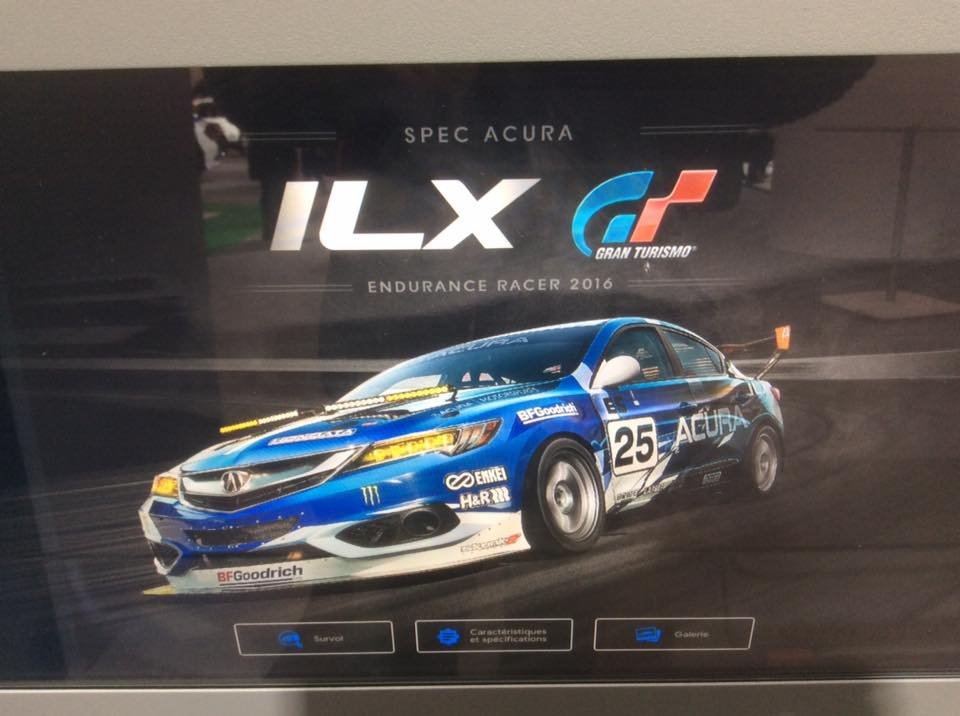 Is Gran Turismo linked to Acura's ILX endurance racer?