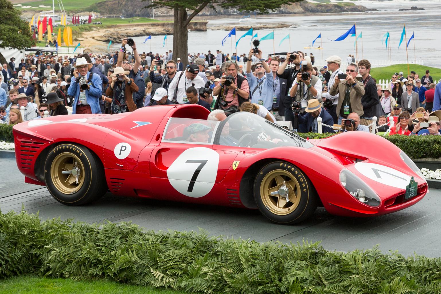 1966 Ferrari 330 P4 wins Gran Turismo Trophy at Pebble Beach 2016