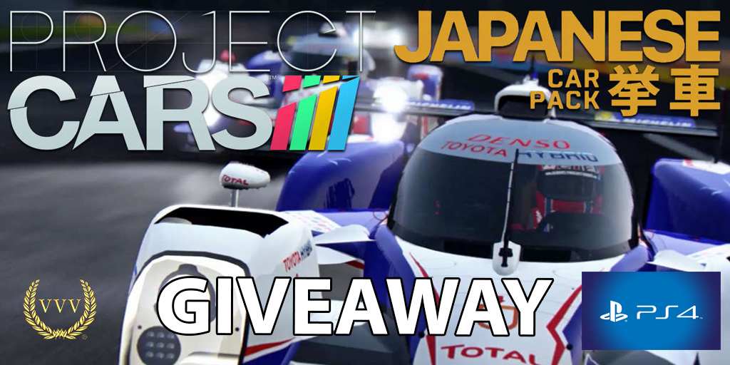 Win a Project CARS Japanese Car Pack DLC code for PS4