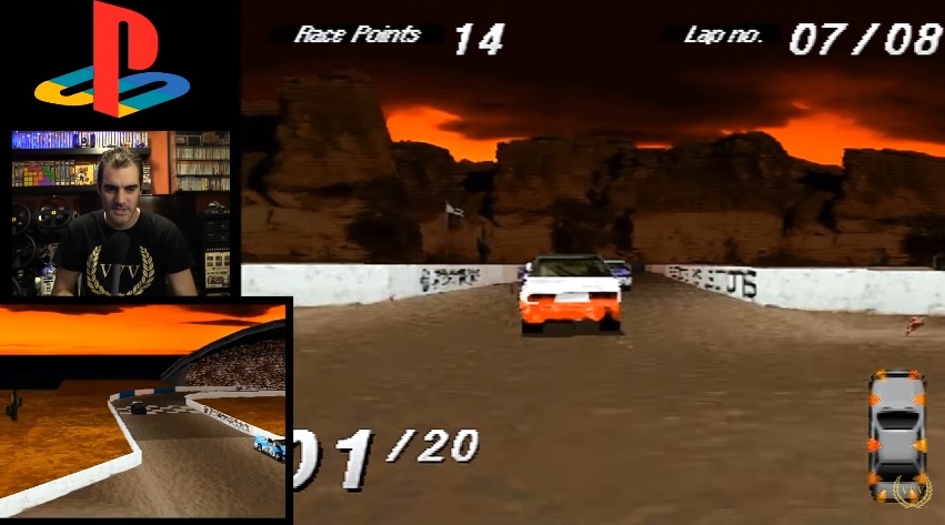 Going Wreckin' Racing in PS1 classic Destruction Derby