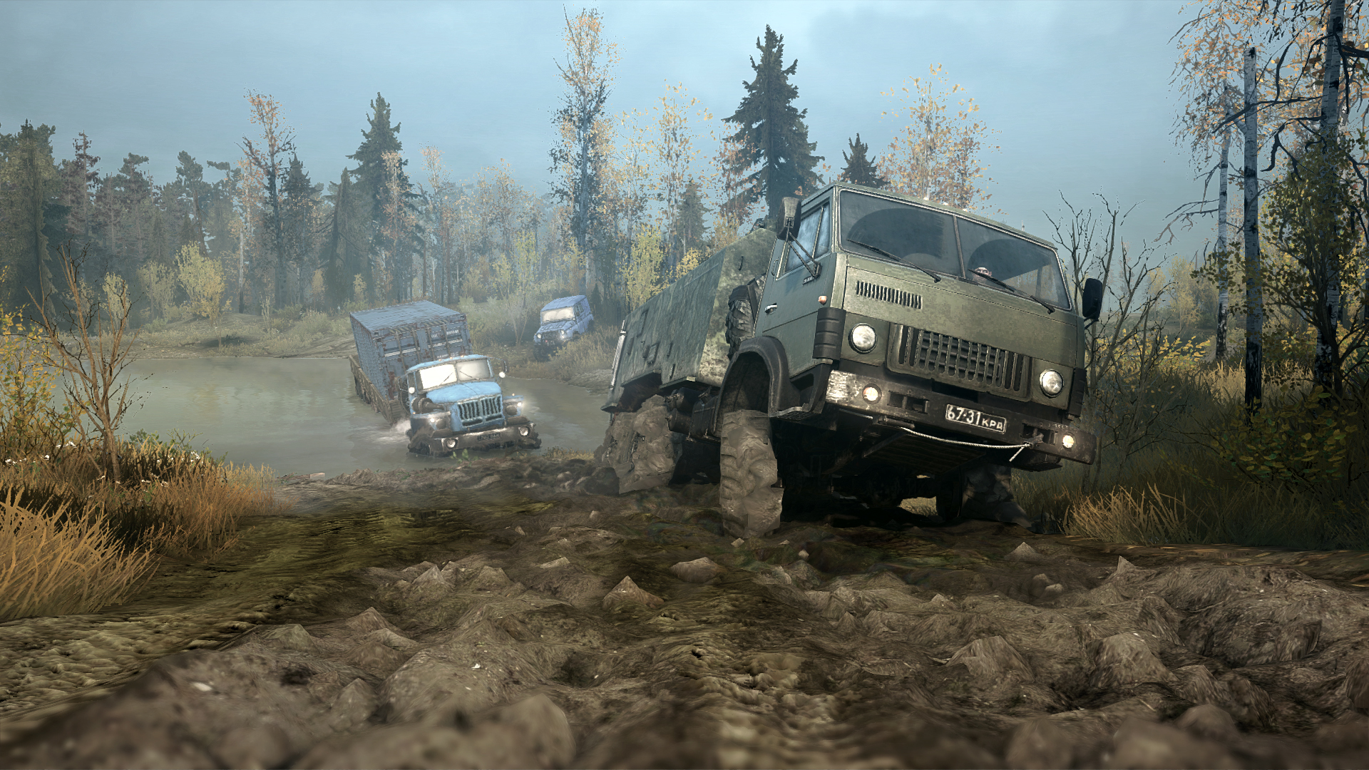 Off-roading simulation game Spintires: MudRunner announced, to release in October