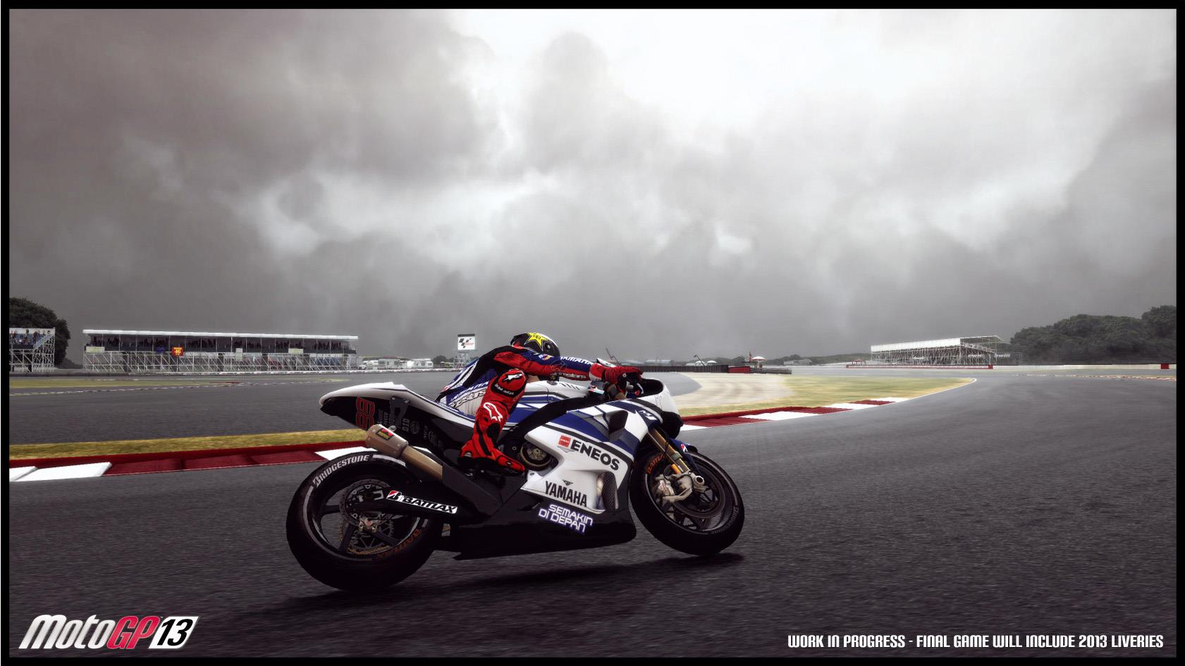 MotoGP '13 Silverstone screenshots showcase dynamic weather