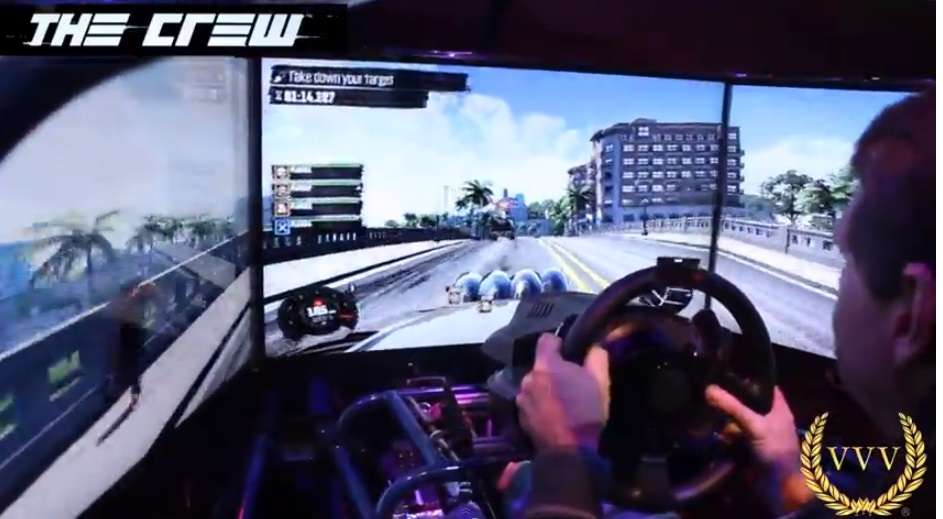 The Crew E3 triple screen multiplayer gameplay footage