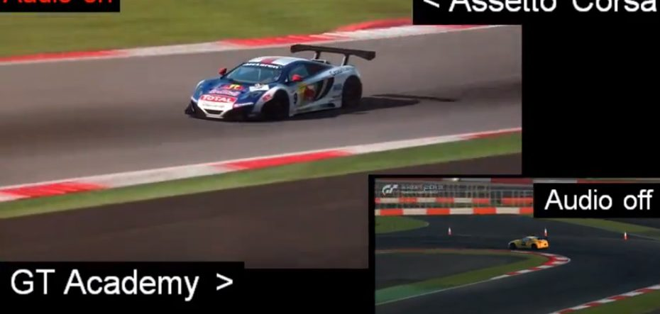 assetto corsa and gran turismo 6 gt academy demo replay comparison