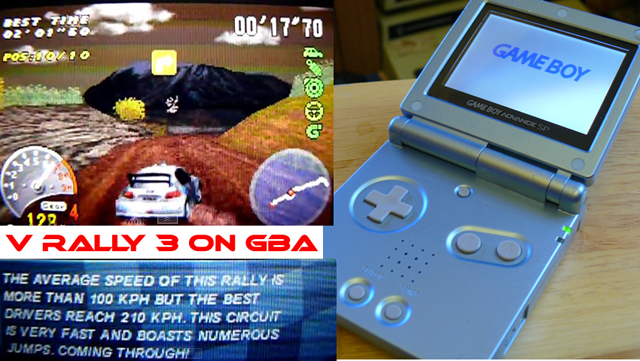 V Rally 3 on the Game Boy Advance