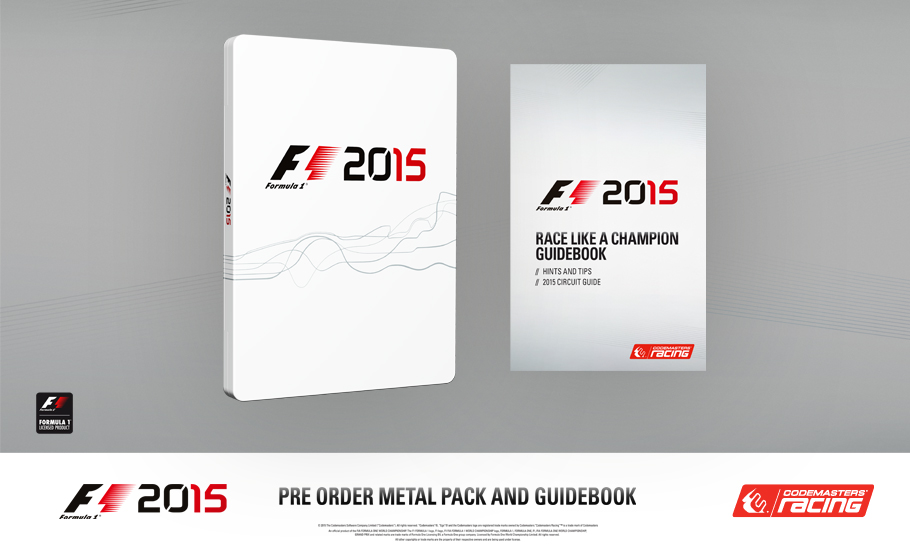 F1 2015 Metal Case Steelbook Edition available only at GAME