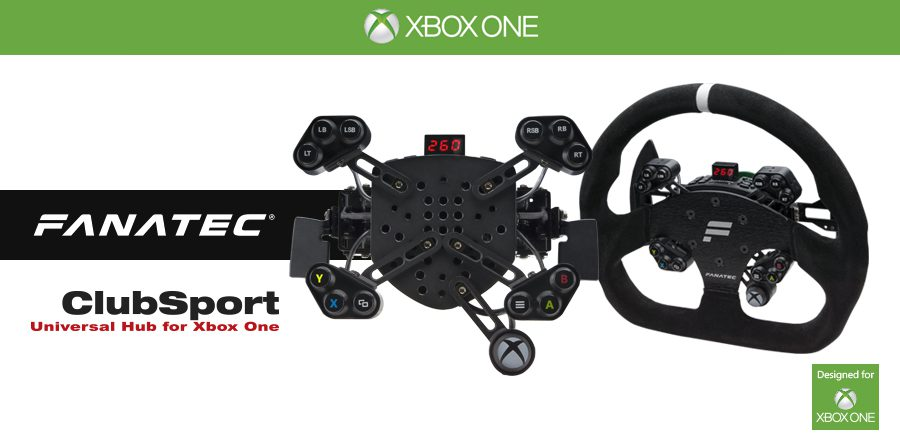 fanatec announces clubsport universal hub for xbox one. Black Bedroom Furniture Sets. Home Design Ideas