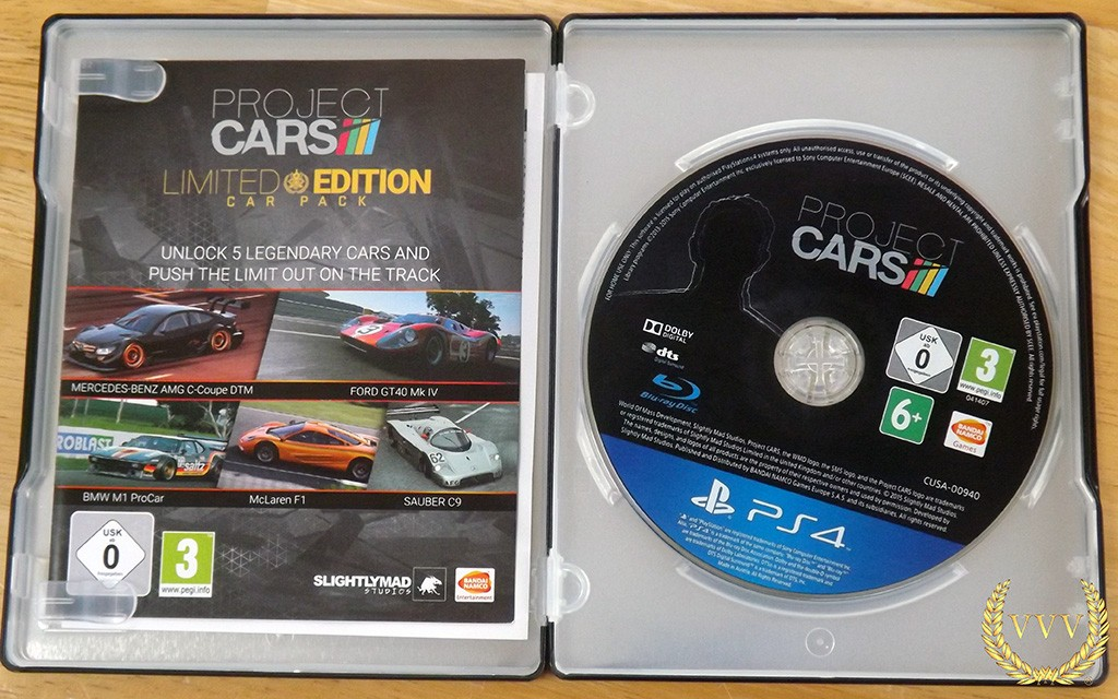 unboxing the project cars ps4 limited edition steelbook. Black Bedroom Furniture Sets. Home Design Ideas