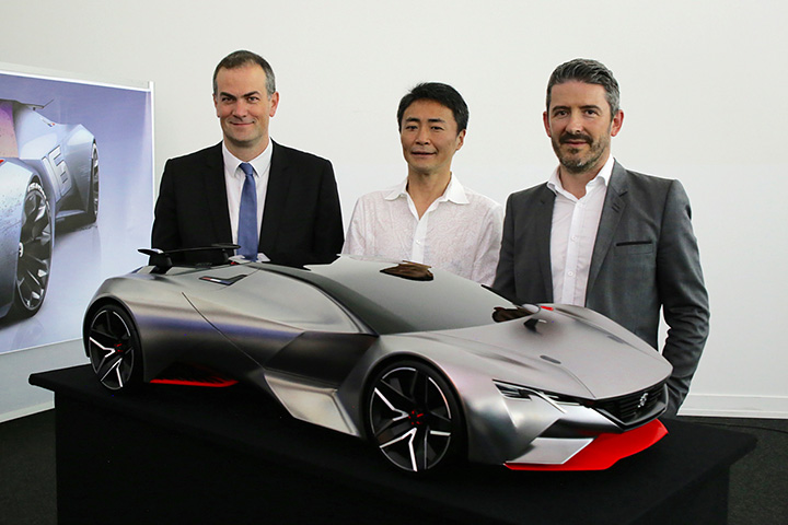 Team VVV visit Peugeot for the launch of the Onyx GT Vision