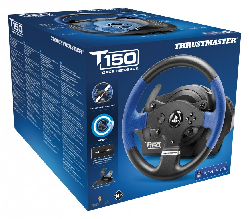 Thrustmaster T150 Force Feedback wheels announced for PS4