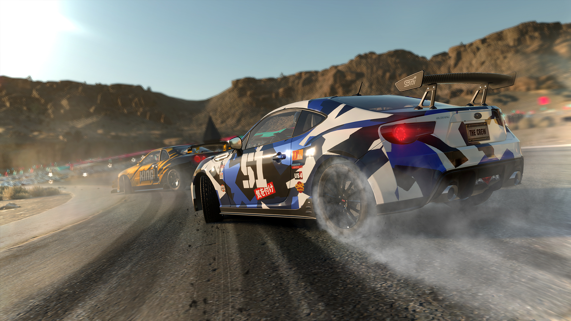 The Crew Wild Run Subaru BRZ drifting screenshot