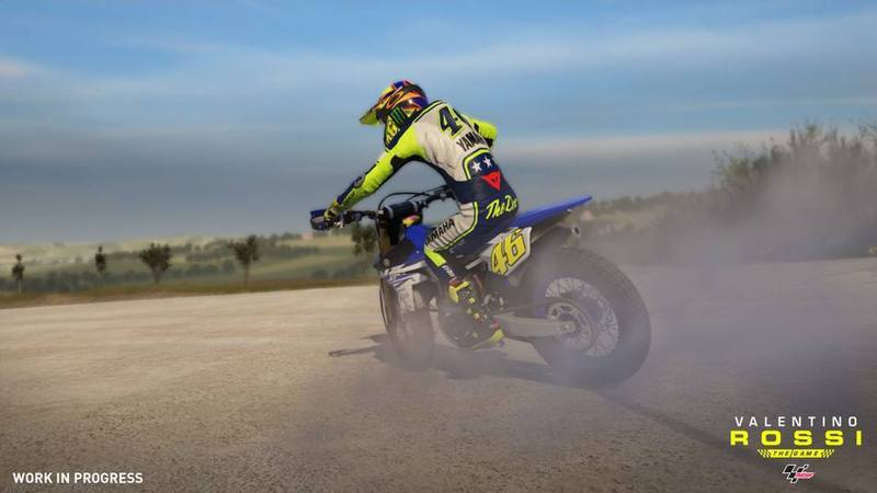 First screens for Valentino Rossi: The Game feature Rossi's training ranch