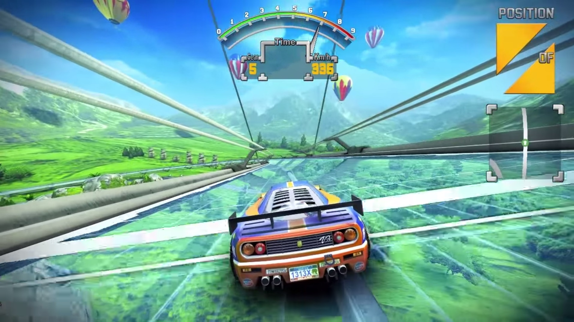 The 90's Arcade Racer Wii U screenshot