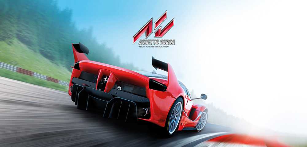 Assetto Corsa console artwork with Ferrari FXXK