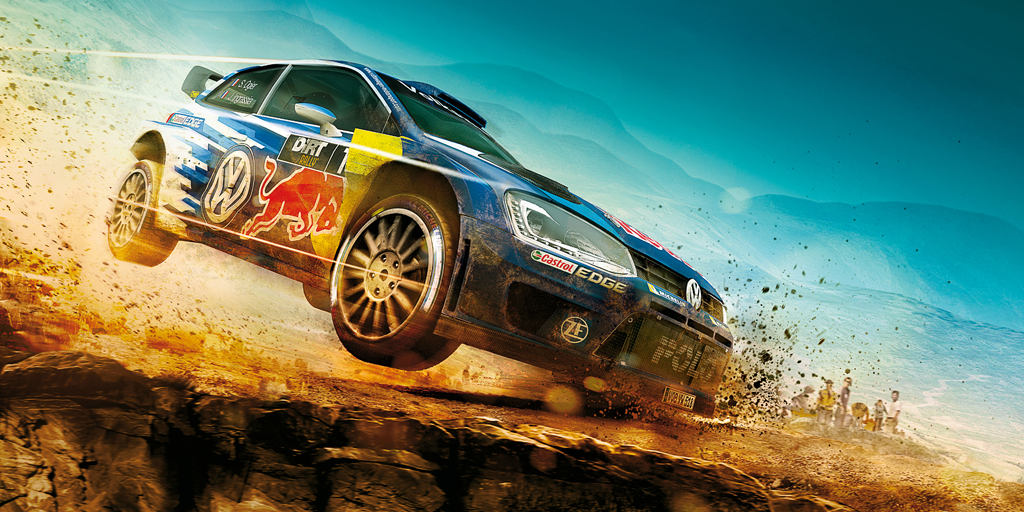 DiRT Rally artwork with Volkswagen Polo WRC