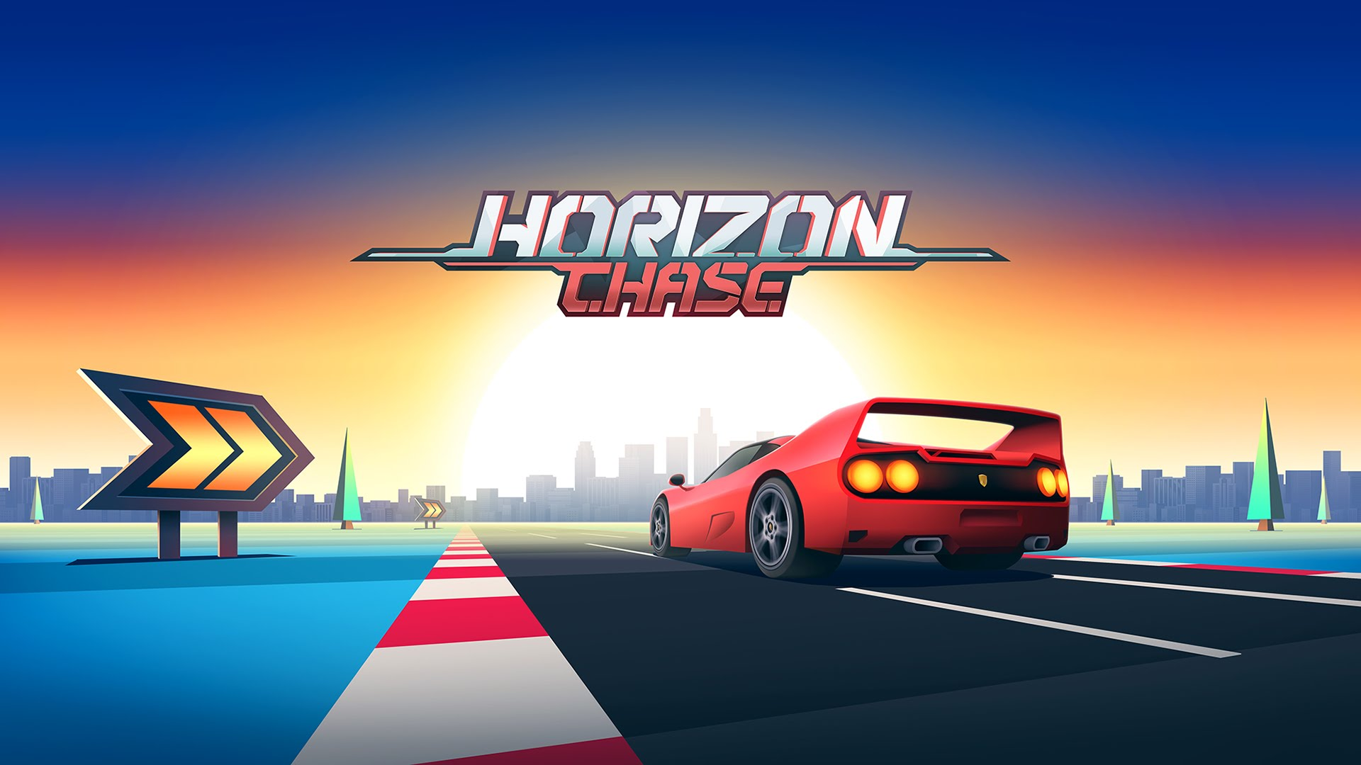 Horizon Chase retro artwork