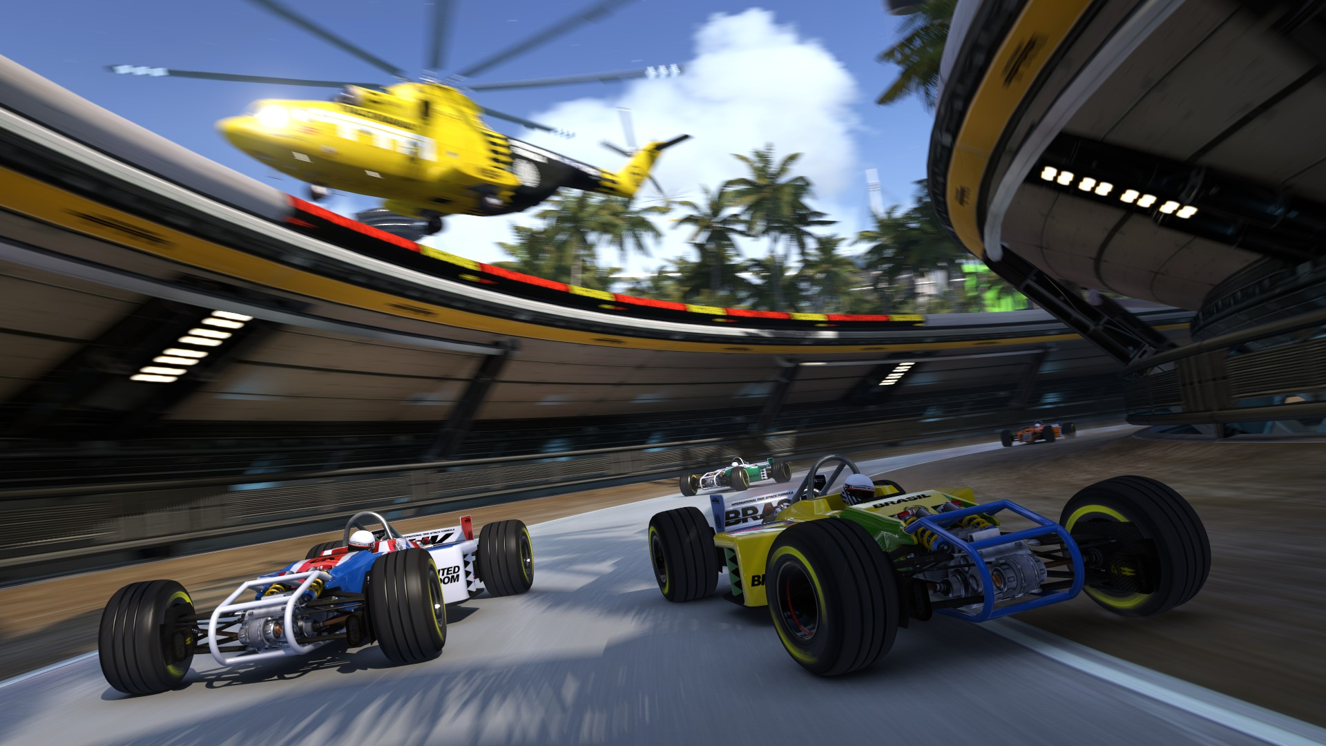 Trackmania Turbo artowork with single seaters