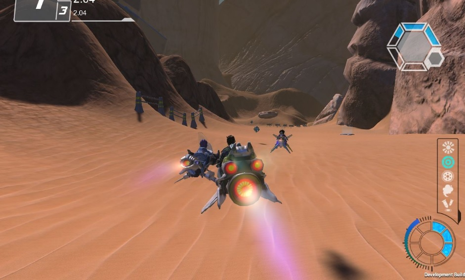 AcroStorm screenshot Desert Environment Wii U PC