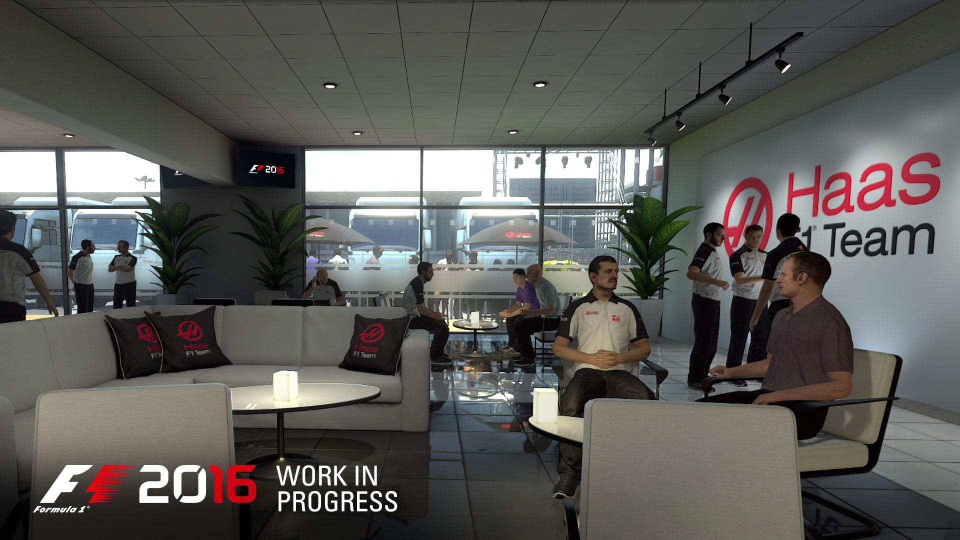 F1 2016 screenshot hospitality area