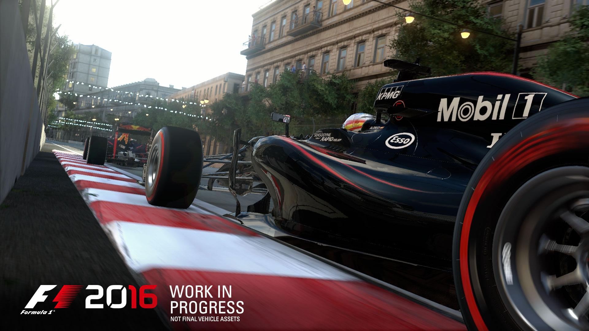 F1 2016 Azerbaijan street circuit screenshot