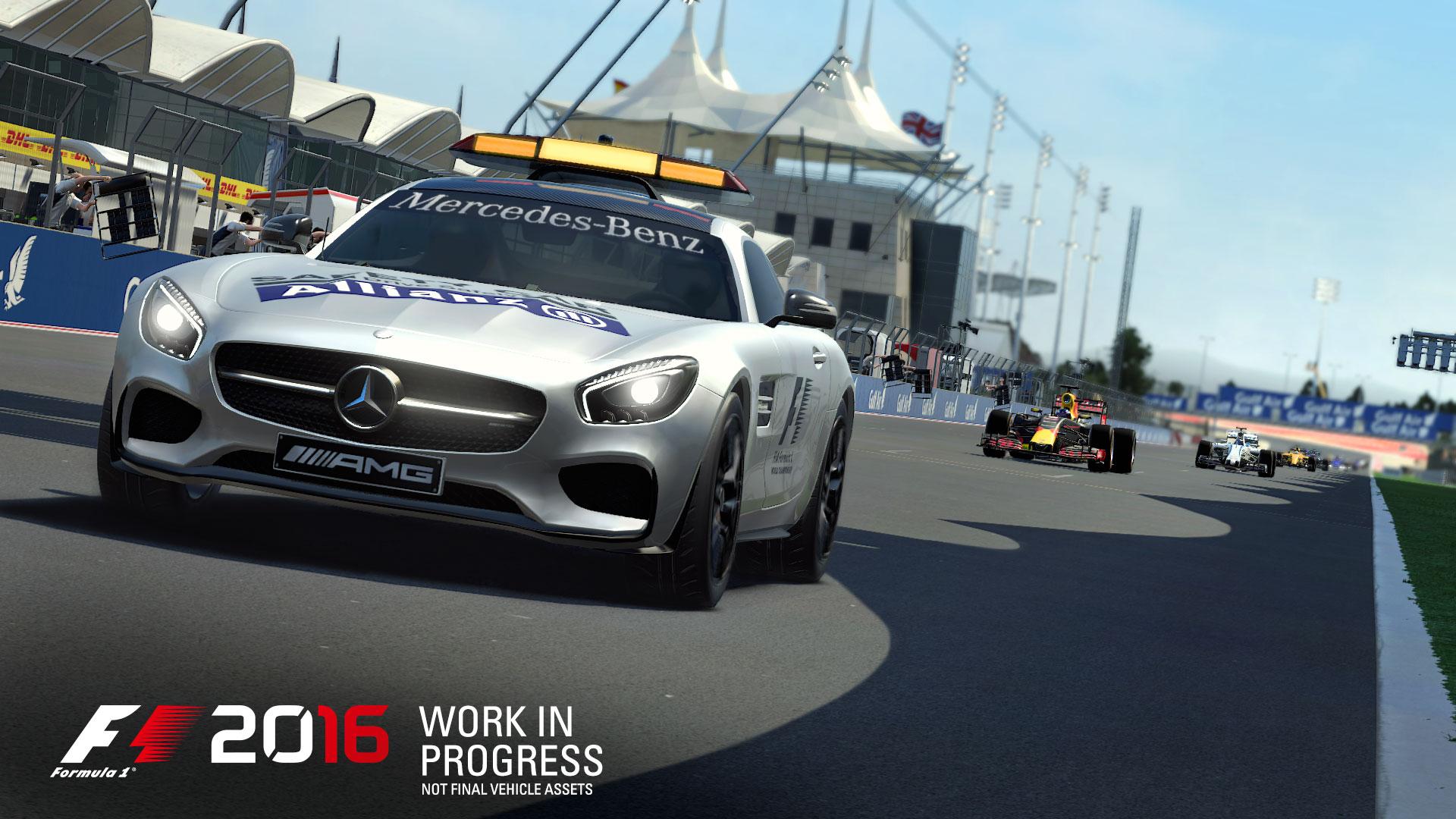 F1 2016 safety car Mercedes AMG screenshot