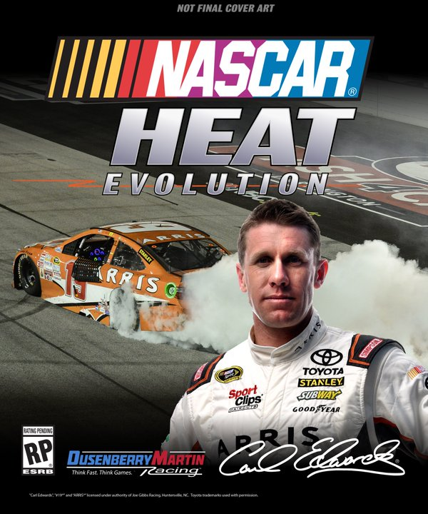 NASCAR Heat Evolution Cover Art with Carl Edwards