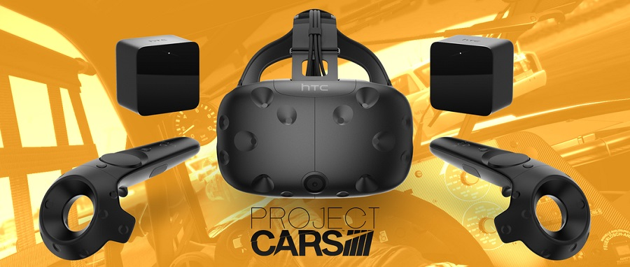 Project CARS HTC Vive Virtual Reality Headset Support