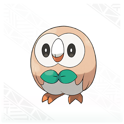 Rowlet the newest grass type Pokemon is a owl like bird