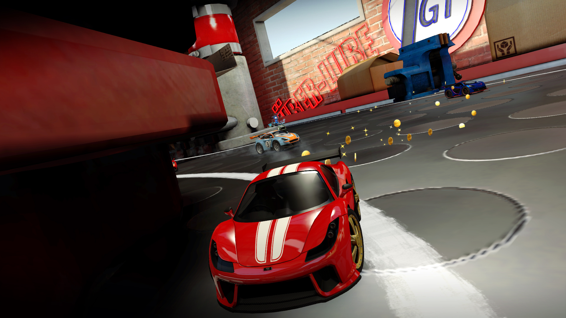 Table Top Racing World Tour Ferrari lookalike racing