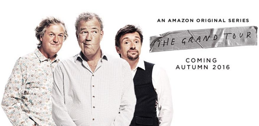 The Grand Tour Clarkson, Hammond and May key art Amazon Prime