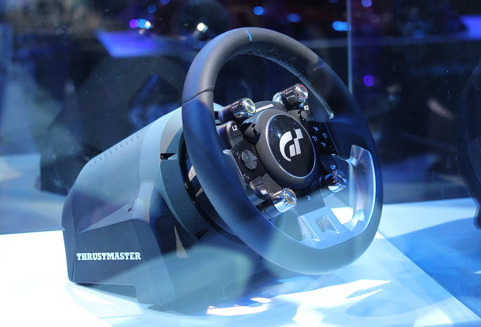 Thrustmaster Gran Turismo Sport PS4 wheel on display at London event