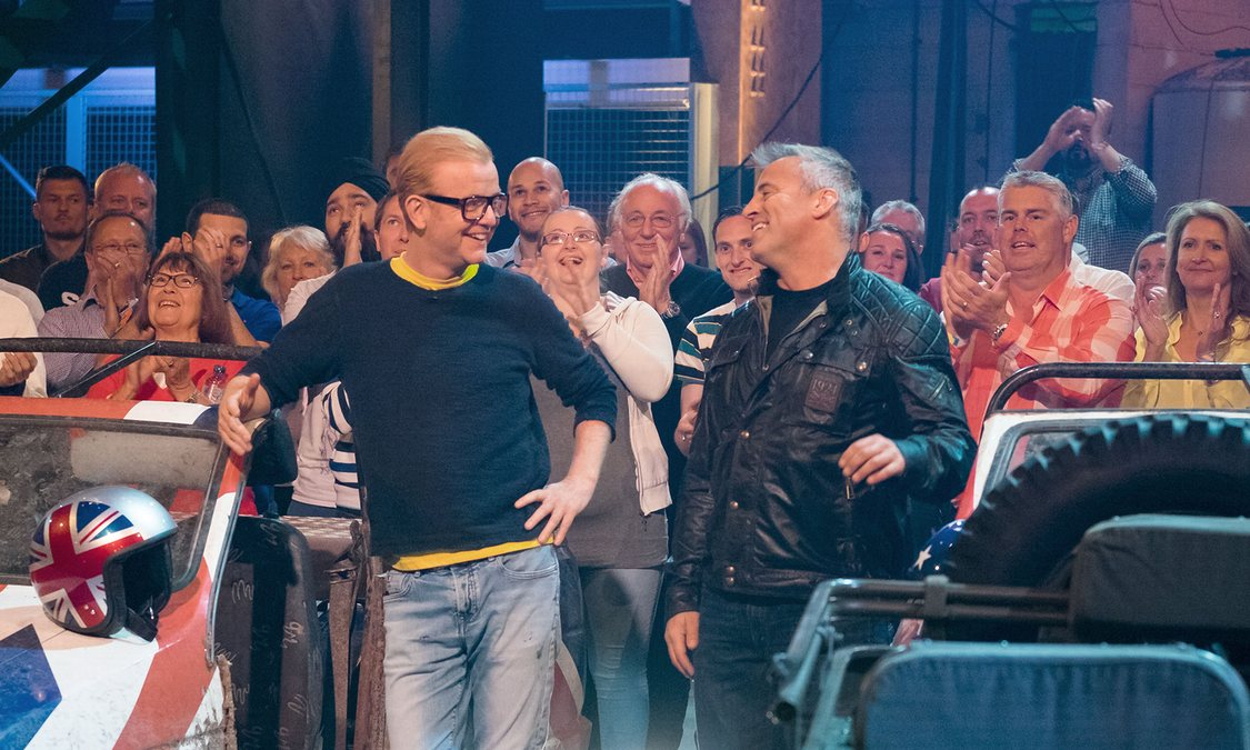Top Gear studio with Chris Evans and Matt LeBlanc