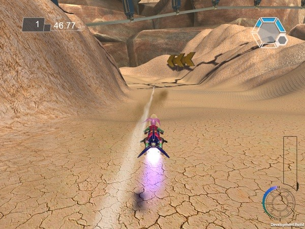 Acro Storm PC Wii U futuristic racer desert environment