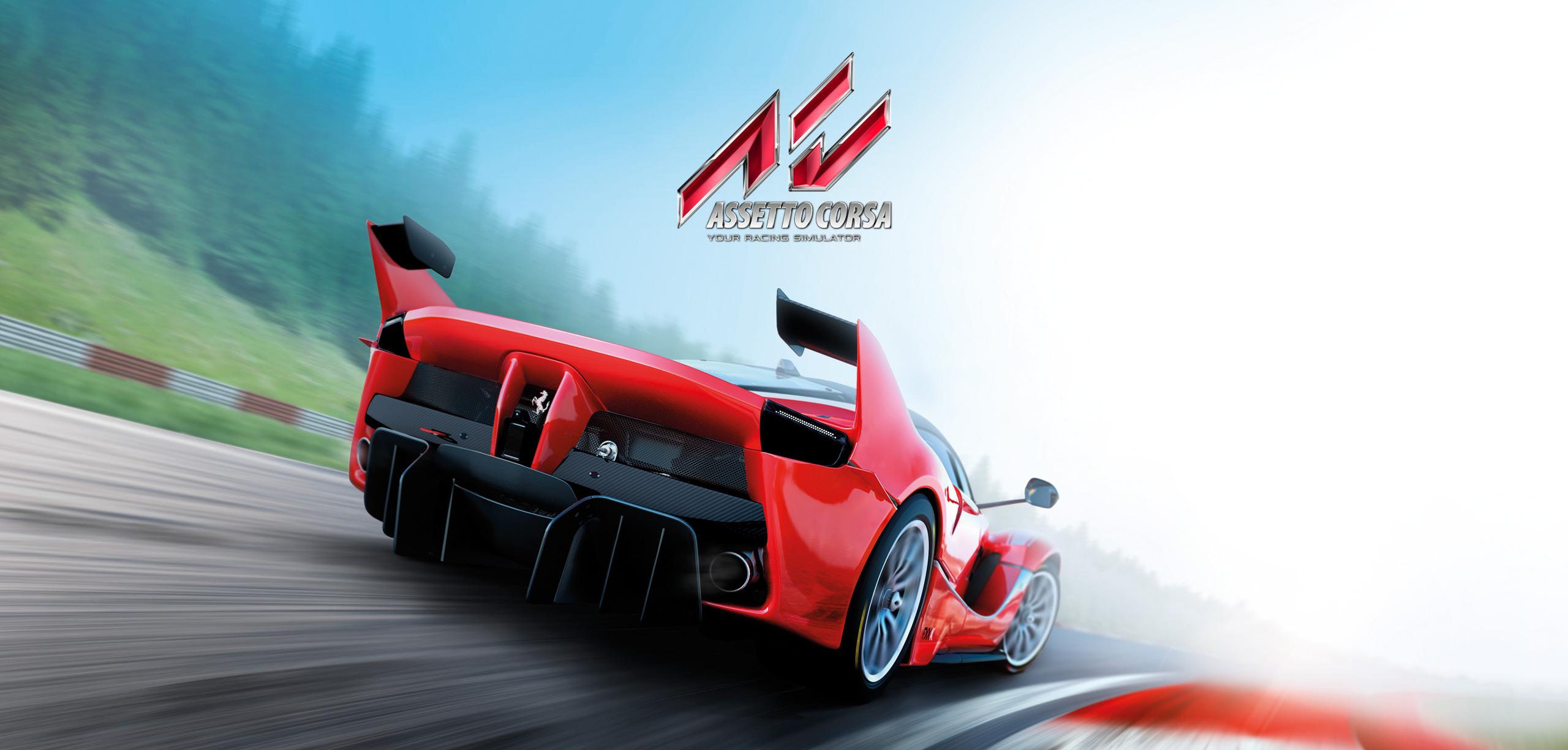 Assetto Corsa artwork with Ferrari FXXK