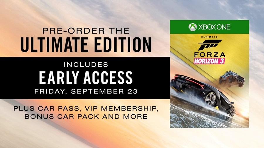 Forza Horizon 3 Ultimate Edition content