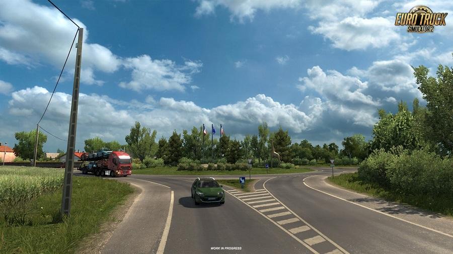 Euro Truck Simulator 2 France DLC Roundabout
