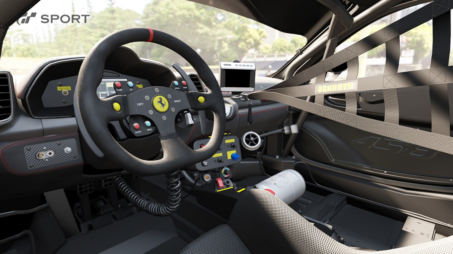 GT sport cockpit interior Ferrari 458 Italia render
