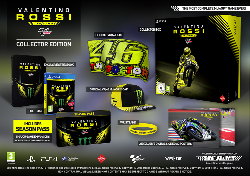 Valentino Rossi The Game Collectors Edition contents