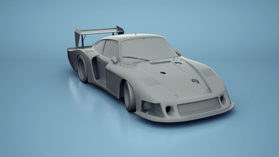 Assetto Corsa Prosche teaser image preview Moby Dick Clay render 935/78