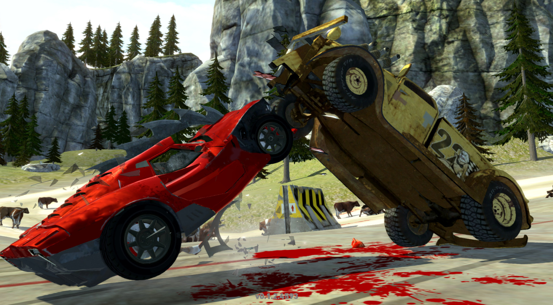 Carmageddon Reincarnation PC screenshot head on crash