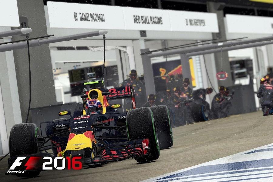 F1 2016 Ricciardo leaving pit lane screenshot Codemasters Red Bull Ring Austrian Grand Prix